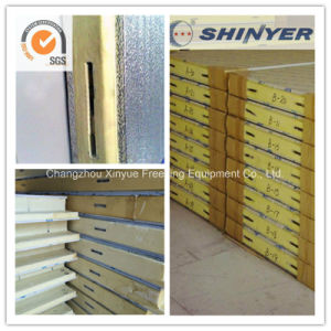 75mm Polyurethane PU Sandwich Panel with Embossed Aluminum Plate pictures & photos