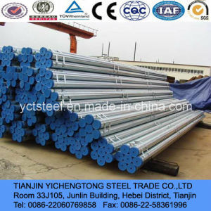 Dn150 Hot Dipped Galvanized Tube & Pipe with Blue Caps pictures & photos