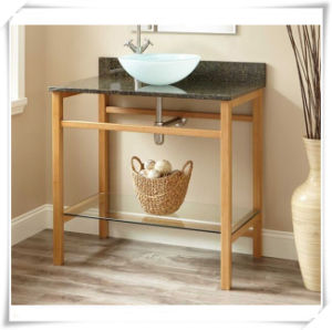 Natual Bamboo Bathroom Floor Storage Cabinets pictures & photos