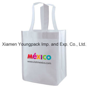 Eco Friendly Reusable White Promotional Non-Woven Tote Shopping Bag pictures & photos