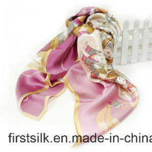Silk Georgette Digital Printed Fabric Scarf pictures & photos