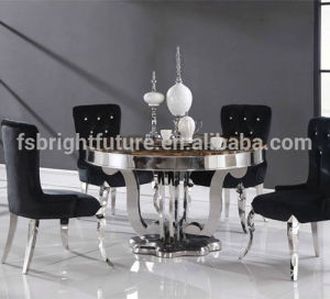 Modern Glass Dining Table and Stainless Steel Dining Table pictures & photos