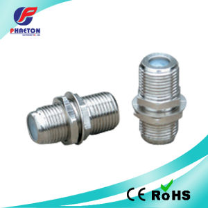F Double Female Connector Zinc Material pictures & photos