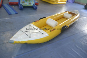 Yellow PVC 0.9mm Inflatable Rubber Boat pictures & photos