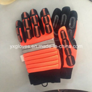 Mechanic Glove-Work Glove-Safety Glove-Hi-Vis Anti-Vibration Work Gloves -Heavy Duty Glove pictures & photos