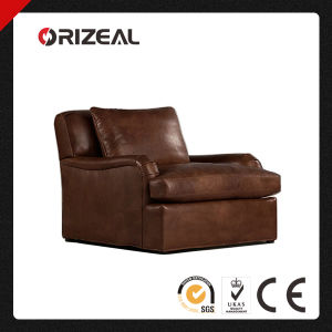 Orizeal Classic Roll Arm Genuine Brazilian Leather Chair (OZ-LS-2008) pictures & photos