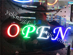 CE Acrylic Indoor 68X38X2.5cm Oval Shape Open Closed Neon Tacos Open Sign
