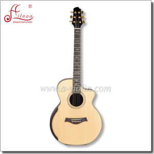 "[Winzz] 40"" Cutaway Arched Shape All Solid Acoustic Guitar pictures & photos"