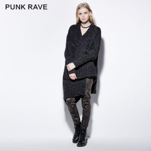 Pm-032 Gothic Broken Hold Loose Overside Asymmetric Thick Wool Cloak Sweater pictures & photos
