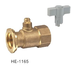 (HE-1165) Brass Ball Valve Pn25 with Wing Handle for Water, Oil