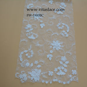 3D Floral in Bridal Lace From China Factory Fw1900