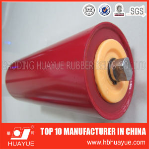 Quality Assured Red Color Transport System Conveyor Idler Roller Diameter 89-159 Huayue pictures & photos