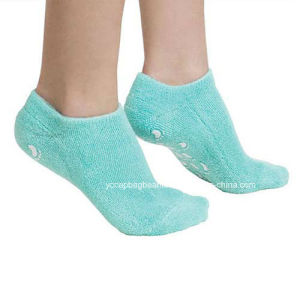 Best Quality Multi Color Cotton Gel Socks pictures & photos