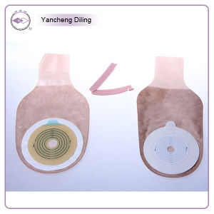 Disposable One-Piece, Opend Type Colostomy Bag, Lined with Brown Non-Woven Fabric pictures & photos