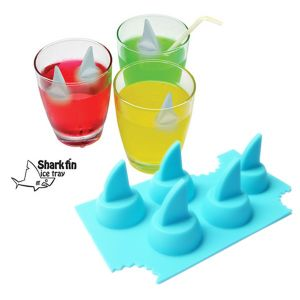 Novelty Five Shark Fin Shape Silicone Ice Cube Trays pictures & photos