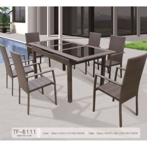 New Product China Supplier Outdoor Furniture Leisure Patio Extensible Table Set