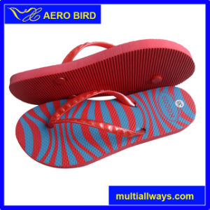 Stripe Print PE Simple Style Sandal for Woman (14E024) pictures & photos