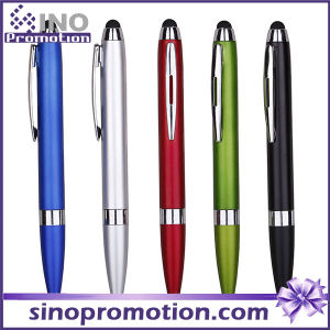 Multi-Color Available Metal Luster Clip Ballpoint Pen with Rubber Tip pictures & photos