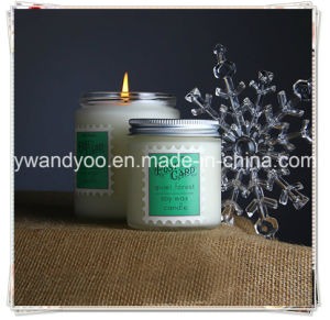 White Scented Soy Wax Jar Aroma Candle with Lid pictures & photos