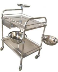 Stainless Steel Hospital Dressing Trolley pictures & photos