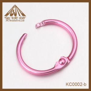 Fashion Nice Quality Small Size Pink Metal Ring Clips Wholesale pictures & photos