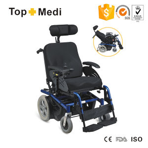 Top Sale High End Aluminum Electric Wheelchair with PU Vehicle Seat pictures & photos