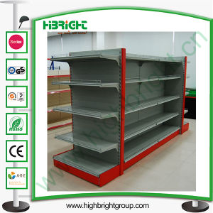 Double Sided Supermarket Shelf Gondola Wtih End Cap pictures & photos