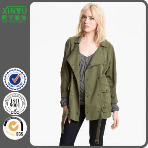 2016 Cotton Washed Fashion Women Army Jacket pictures & photos