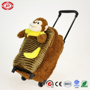 Plush Monkey Lovely Fluffy Kids Travel Trolley Bag pictures & photos