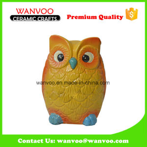 China Popular Animal Shape Owl Decoration Statue Coin Bankby Porcelain pictures & photos