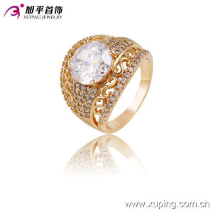 Fashion Elegant 18k Gold-Plated Women Jewelry Ring with Big Zircon -13649 pictures & photos