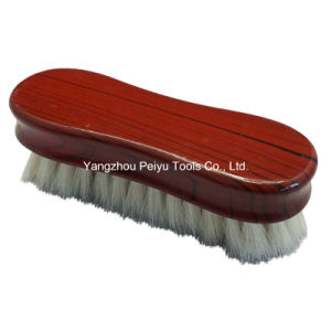 Goat Hair Face Brush, Elegant Tree Ring Lacquered (PY-304)