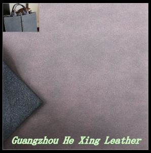 1.2 mm Nubuck PU Leather for Bag, Wallet, Purse pictures & photos