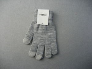 10g Polyester Liner Three Finger Double Color Touch Work Glove-T2002 pictures & photos