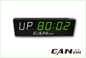 [Ganxin] 4 Inch LED Display Precision World Time Digital Alarm Clock pictures & photos