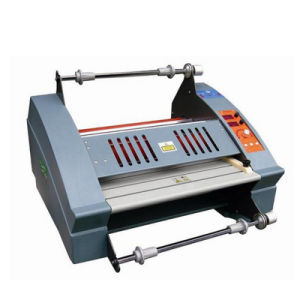 Anti-Curl Single Side Laminating Machine Hot Roll Laminator FM-3810 pictures & photos