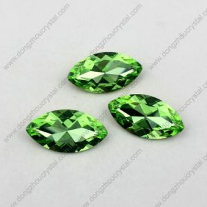 Machine Cut Marquise Glass Gemstone for Jewelry Color Stone pictures & photos