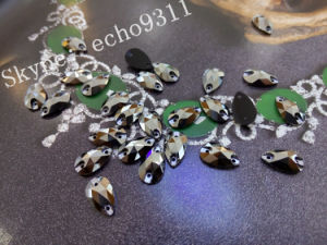 Crystal Sew on Stones 2015 Drop Shape 7*12mm (DZ-3065) pictures & photos