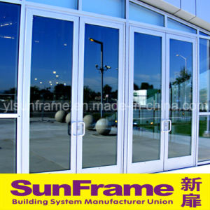 Aluminium Spring Door for Entrance of Shop pictures & photos