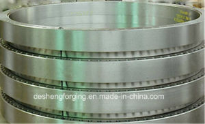 Custom Carbon Steel Flange Forging / Forged Slew Bearing,