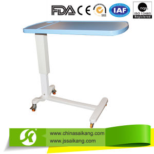 China Products Hospital ABS Overbed Table with Wheels pictures & photos