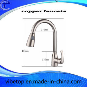 High Quality Brass Kitchen Faucet with Pull-out Spray pictures & photos