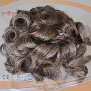 Mono Top Human Hair Full Lace Toupee pictures & photos