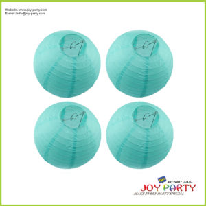 Event Solid Color Decorative Round Paper Lantern for Wedding pictures & photos