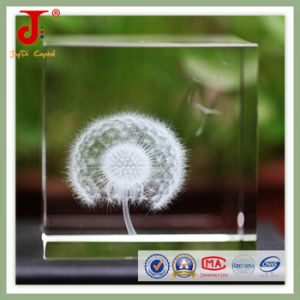 Nest 3D Laser Engraved Crystal Glass Cube (JD-CC-500) pictures & photos