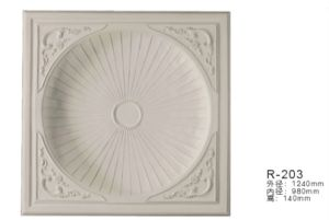 Polyurethane Decorative White Ceiling Demes Medallions for Interior Design pictures & photos