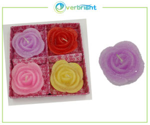 Colorful Flower Shape Valentine′s Day Candle Set (HD-TCL-008)