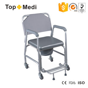Topmedi Bathroom Safety Aluminum Foldable Footrest Commode pictures & photos