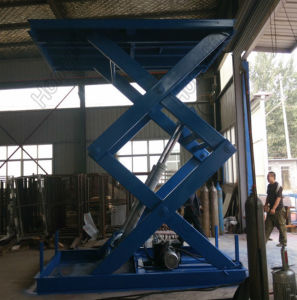 Lifting Platform Warehouse Stationary Electric Cargo Scissor Lift Table pictures & photos