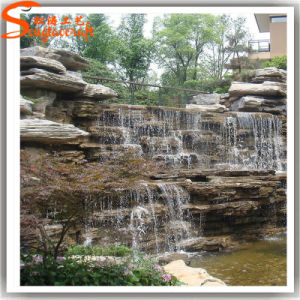 Garden Decoration Fiberglass Artificial Rock Waterfall pictures & photos